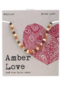 AMBER LOVE Children's Necklace Baltic Amber (Mixed Love)