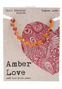 AMBER LOVE Children's Bracelet/Anklet Baltic Amber (Cognac Love)