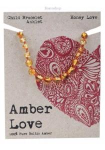 AMBER LOVE Children's Bracelet/Anklet Baltic Amber (Honey Love)