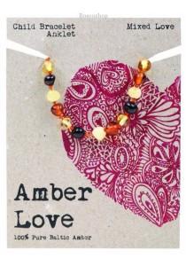 AMBER LOVE Children's Bracelet/Anklet Baltic Amber (Mixed Love)