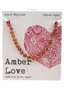 AMBER LOVE Adult's Necklace Baltic Amber (Cognac Love)