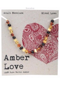 AMBER LOVE Adult's Necklace Baltic Amber (Mixed Love)