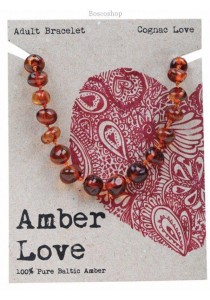AMBER LOVE Adult's Bracelet Baltic Amber (Cognac Love)