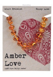 AMBER LOVE Adult's Bracelet Baltic Amber (Honey Love)