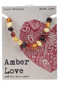 AMBER LOVE Adult's Bracelet Baltic Amber (Mixed Love)
