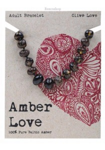 AMBER LOVE Adult's Bracelet Baltic Amber (Olive Love)