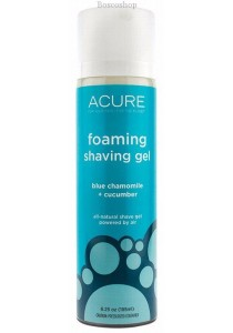 ACURE Organic Foaming Shave Gel Blue Chamomile + Cucumber (185ml)