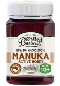 BARNES NATURALS Manuka Active Honey NPA 10+ (MGO263+)