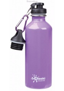 CHEEKI Stainless Steel Bottle (Indigo Sparkle 500ml with 2 Lids)