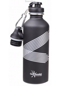 CHEEKI Stainless Steel Bottle (Matte Black 500ml with 2 Lids)