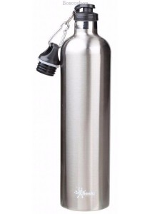 CHEEKI Stainless Steel Bottle (Insulated Silver 1L)