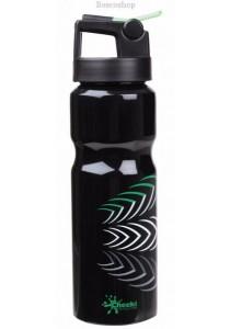 CHEEKI Black Sports Bottle - Straw Lid (830ml)