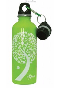 CHEEKI Stainless Steel Bottle (Green Owl 500ml)