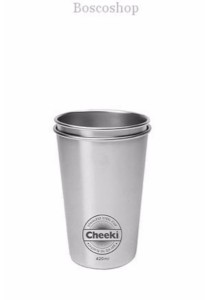 CHEEKI Stainless Steel Cups 2 Pack (420ml)