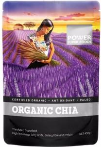"POWER SUPER FOODS Chia Seeds - Certified Organic ""The Origin Series"" (450g)"