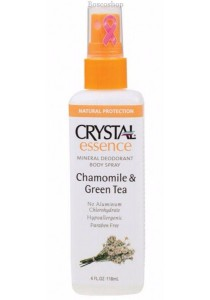 CRYSTAL ESSENCE Deodorant Spray (Chamomile & Green Tea)