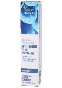 DESERT ESSENCE Natural Tea Tree Oil Toothpaste Whitening Plus - Cool Mint