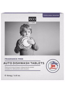 ECOSTORE Auto Dishwash Tablets Fragrance Free