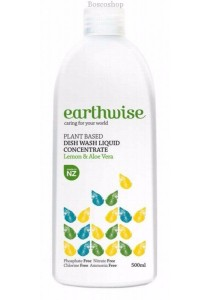 EARTHWISE Dishwash Liquid Concentrate (Lemon & Aloe Vera) (500ml)