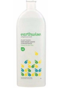 EARTHWISE Dishwash Liquid Concentrate (Lemon & Aloe Vera) (1L)