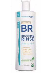 ESSENTIAL OXYGEN Toothpaste/Mouthwash Brushing Rinse (Peppermint) (473ml)