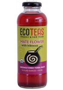 ECO TEAS Unsweetened Yerba Mate Tea Mate Flower with Hibiscus