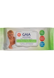 GAIA NATURAL BABY Baby Wipes Bamboo Wipes (80 Wipes)