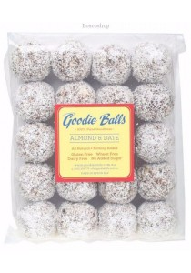 GOODIE BALLS Energy Balls - Bulk Pack of 20 Almond & Date