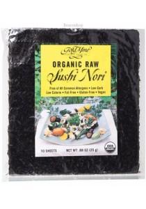 GOLD MINE Sushi Nori Organic Raw (10 Sheets)