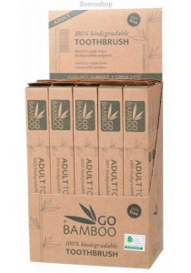 GO BAMBOO Toothbrush - Adult Display Box of 25