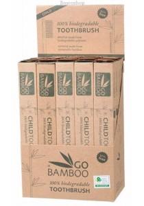GO BAMBOO Toothbrush - Children Display Box of 25