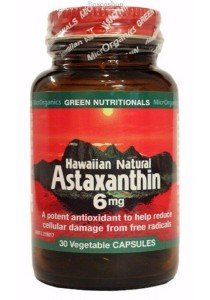 GREEN NUTRITIONALS Hawaiian Natural Astaxanthin VegeCaps (6mg) (30 Capsules)