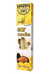 HAPPY EARS Ear Candles 100% Beeswax - Cone