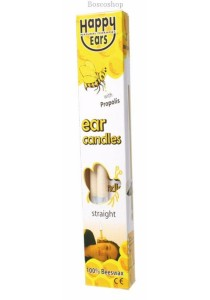 HAPPY EARS Ear Candles 100% Beeswax - Straight