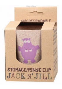 JACK N' JILL Storage/Rinse Cup Hippo (Biodegradable Cup)