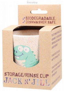 JACK N' JILL Storage/Rinse Cup Dino (Biodegradable Cup)
