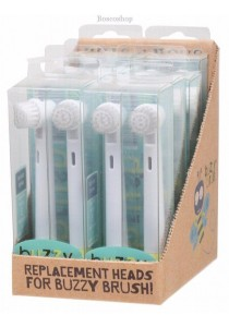 JACK N' JILL Replacement Heads Buzzy Brush (Twin Pack)