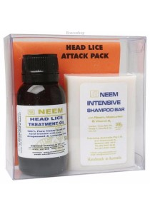 NEEMING AUSTRALIA Head Lice Attack Pack Neem Lice Treatment Pack