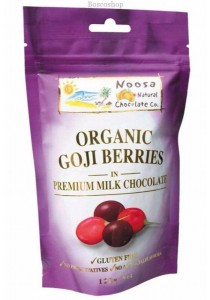 NOOSA NATURAL CHOC. CO. Chocolate Goji Berries Milk Chocolate