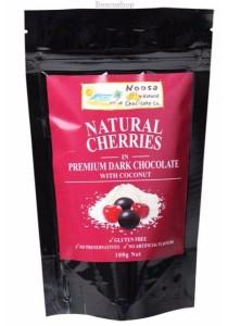 NOOSA NATURAL CHOC. CO. Chocolate Cherries Dark Chocolate With Coconut
