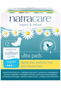 NATRACARE Ultra Pads Super (Wings)