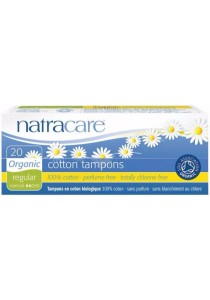 NATRACARE Tampons (Non-Applicator) Regular (20 Tampons)