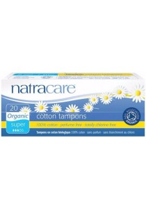 NATRACARE Tampons (Non-Applicator) Super (20 Tampons)