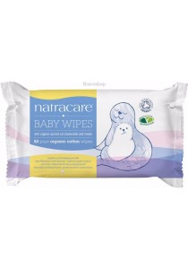 NATRACARE Baby Wipes 100% Organic Cotton