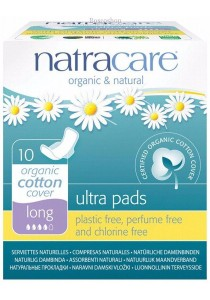 NATRACARE Ultra Pads Long (Wings)