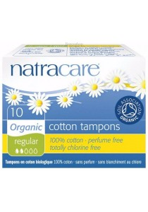 NATRACARE Tampons (Non-Applicator) Regular (10 Tampons)