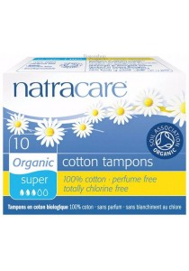 NATRACARE Tampons (Non-Applicator) Super (10 Tampons)