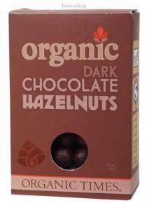 ORGANIC TIMES Chocolate Hazelnuts Dark Chocolate