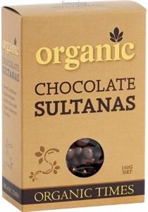 ORGANIC TIMES Chocolate Sultanas Milk Chocolate