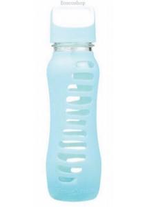 ECO VESSEL Recycled Glass Water Bottle Twist Off Lid (Aqua Wave)